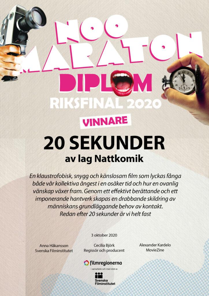 Diplom vinnare 2020