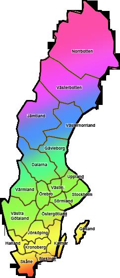 Sverige i regnbågens färger